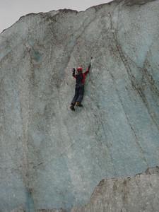 Ice climber high