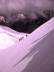 The ridge is is very steep.