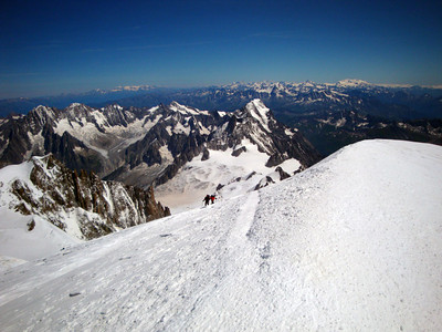 Final stretch leading onto the summit