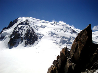 Our first peak - Mt Blanc du Tacul