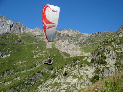 Takeoff red glider