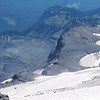 Looking down over the Paradise Glacier from near Anvil Rock