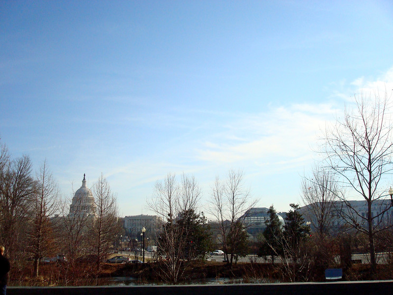 View from the front of the National Museum of the American Indian