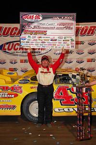 Jason Covert in Victory Lane @ Muskingum County Speedway