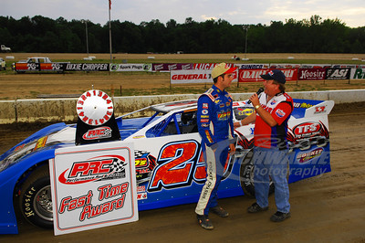 Josh Richards is interviewed by series announcer James Essex for the PRC Fast Time Award