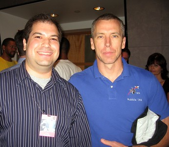Craig with STS-125 Mission Specialist 5 Drew Feustel