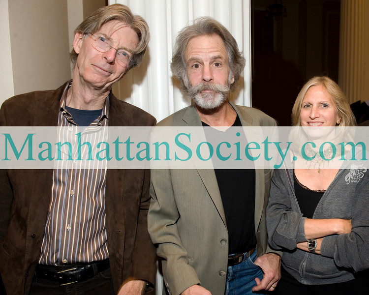 NEW YORK - OCTOBER 21: Phil Lesh ,Bob Weir, Louise Mirrer Attend Benefit Evening at the NEW-YORK HISTORICAL SOCIETY on October 21, 2009 in New York City. (Photo Credit: ©Manhattan Society.com 2009 by Gregory Partanio)
