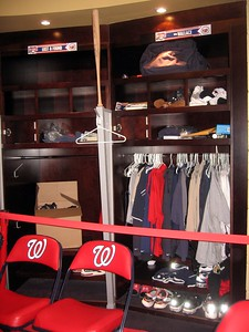 Lost & Found locker, next to Clubhouse Manager Mike Wallace's locker