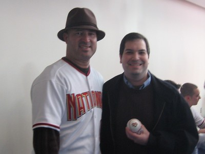 Craig with Nationals manager Manny Acta