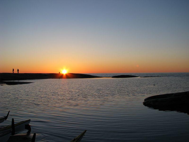 Solnedgång vid Håkanskär