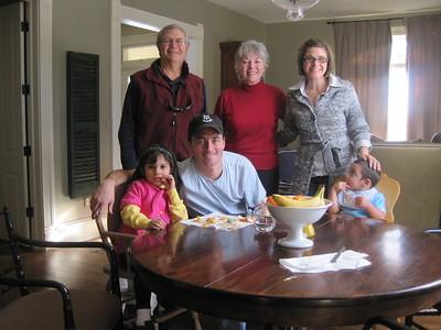 Back:Papa Ben, Granny Franny (Dody), Janel; Front: Sissy, Danny, MD (doc)