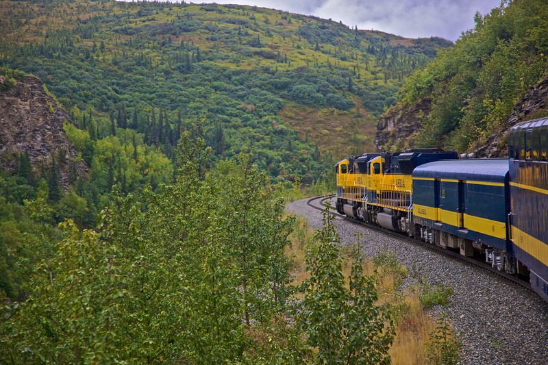 My train travelling south from Fairbanks to Denali Park in Alaska.