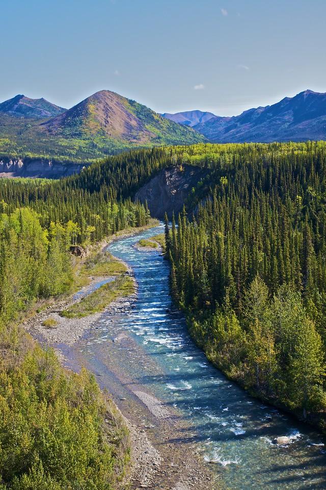 A river in central Alaska.