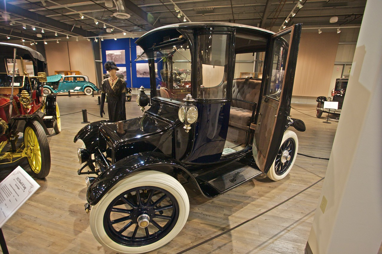 The 1912 Rauch & Lang Electric Brougham 'drawing-room on wheels'. (In the Fountainhead Antique Car and Auto Museum, Fairbanks.)