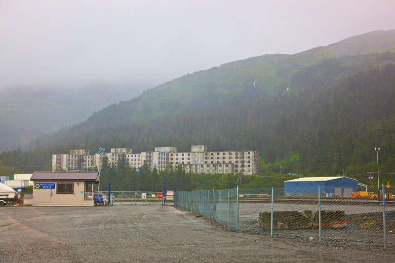 "The <a href=""http://en.wikipedia.org/wiki/Whittier,_Alaska#Buckner_Building"" title=""Whittier, Alaska - Wikipedia, the free encyclopedia"">Buckner Building</a>, a disused (and condemned) federal building in Whittier, Alaska."