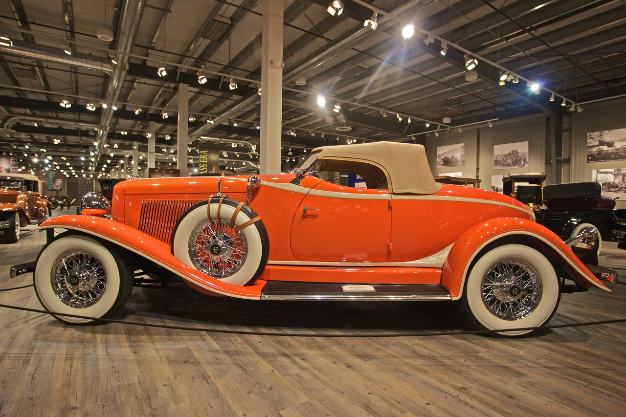 A 1933 Auburn model 12-161A custom Boattail Speedster, which was one of the fastest sportscars of its era. (In the Fountainhead Antique Car and Auto Museum, Fairbanks.)