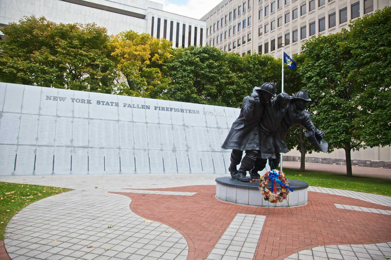 The New York State memorial to fallen firefighters.