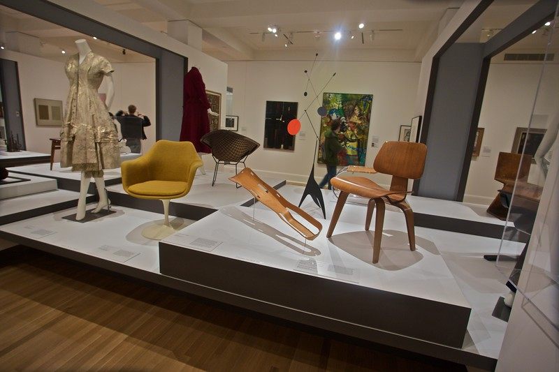 Examples of twentieth-century design on display at the Rhode Island School of Design (RISD) Art Museum. I was soon told that I shouldn't be taking photographs. Whoops.