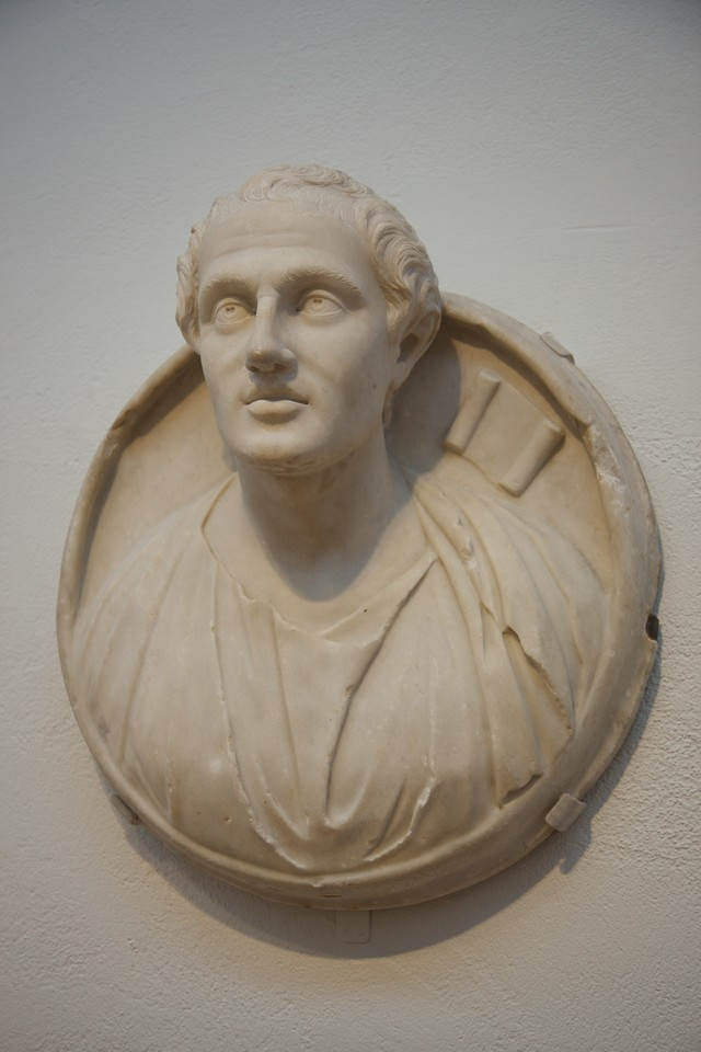 A 3rd-century-AD portrait of Menander in the Arthur M. Sackler Gallery, Harvard.