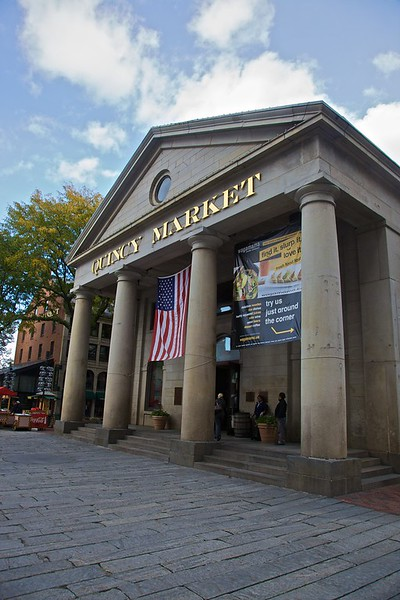 The Quincy Market in Boston.