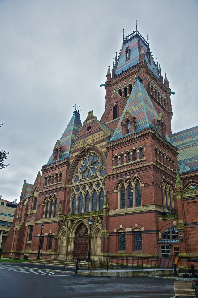 'Like Keble, but bigger': one of the most prominent buildings I saw at Harvard.
