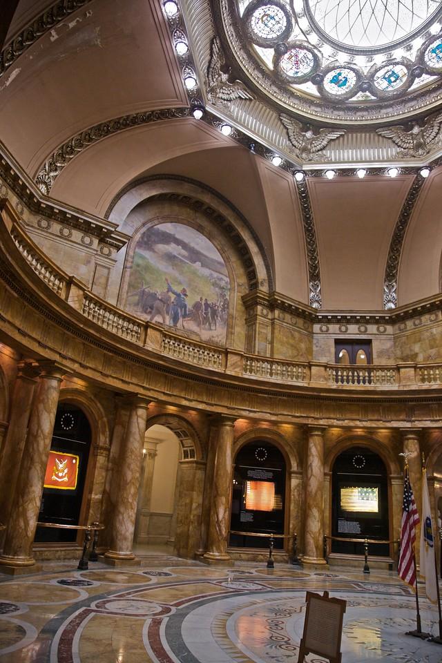 Inside the Massachusetts State House.
