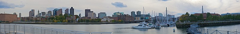 View of downtown Boston from across the water in Bunker Hill.