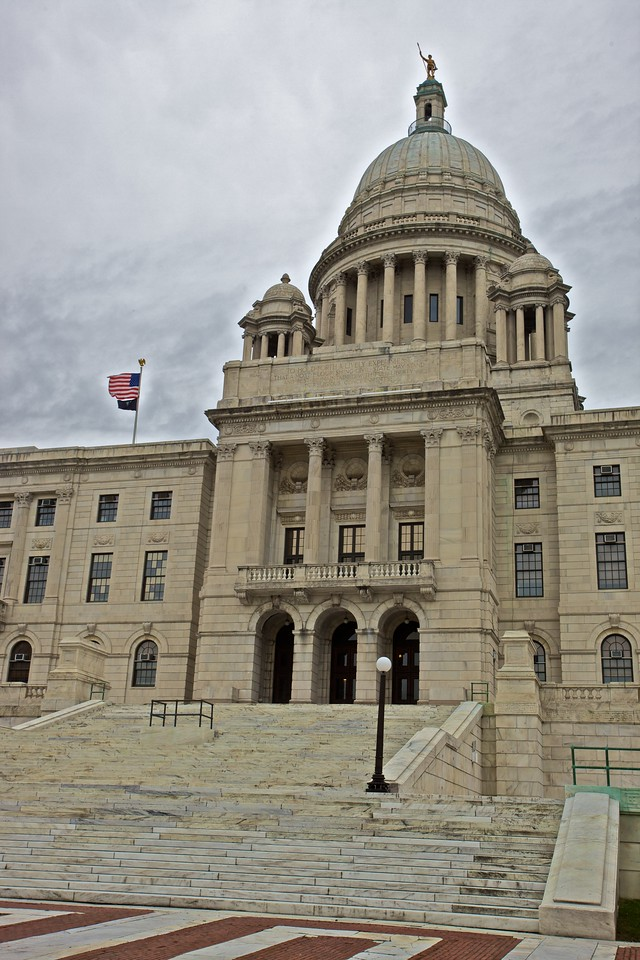 The Rhode Island State House.
