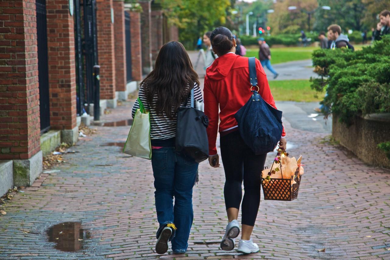 Harvard students in Cambridge, Massachussetts.