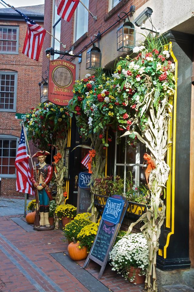A pub in Boston.