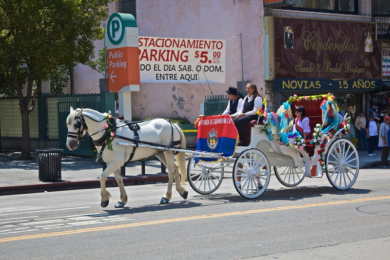 A carriage in the Ecuadorean independence parade.