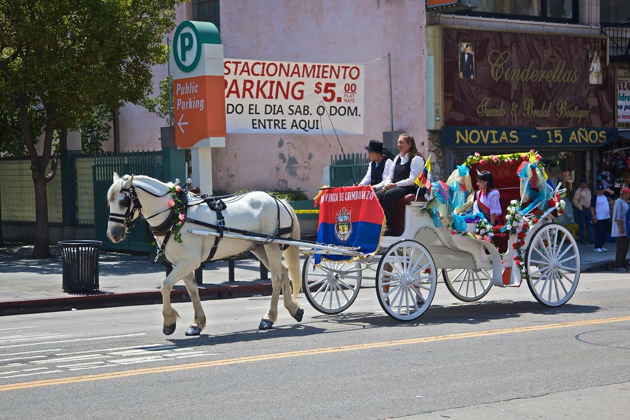 A carriage in the Ecuadorean independence parade.