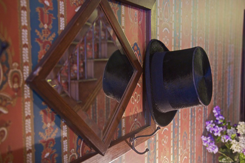 A hat hanging in the William Heath Davis house, San Diego.