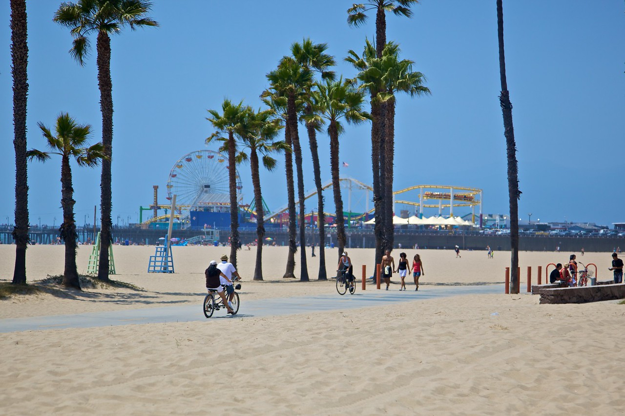 Looking towards Santa Monica pier.