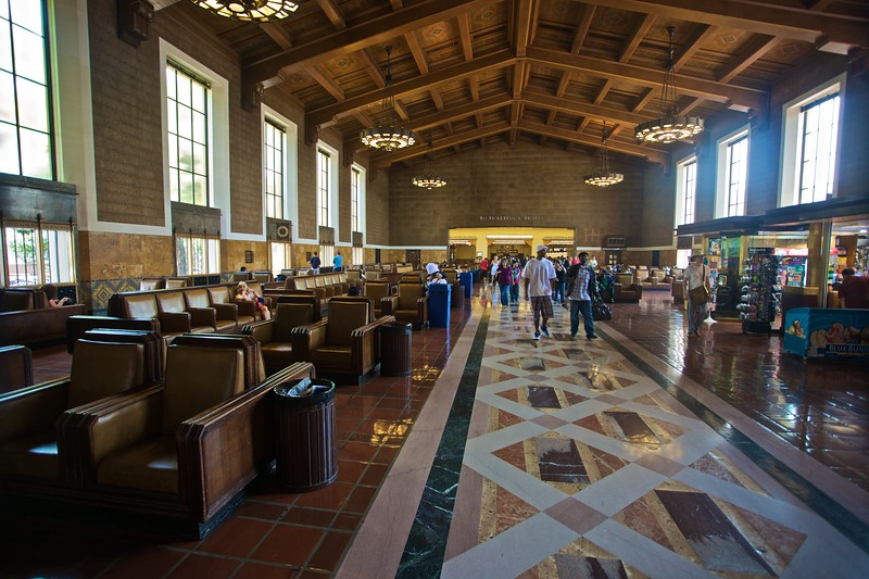 The waiting hall in Los Angeles Union Station.