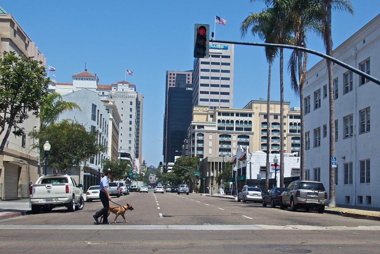 A San Diego street.