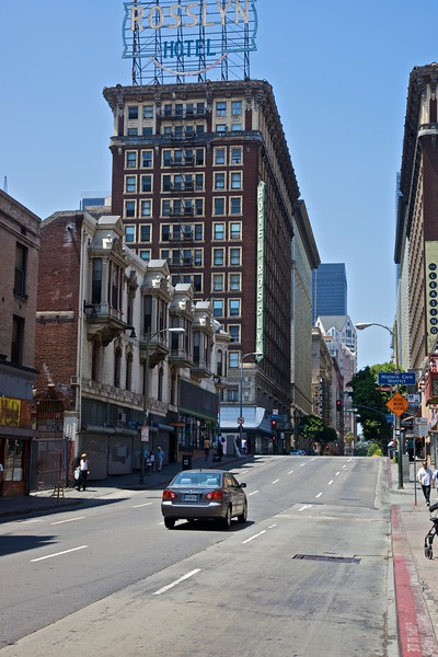 A street in downtown Los Angeles.