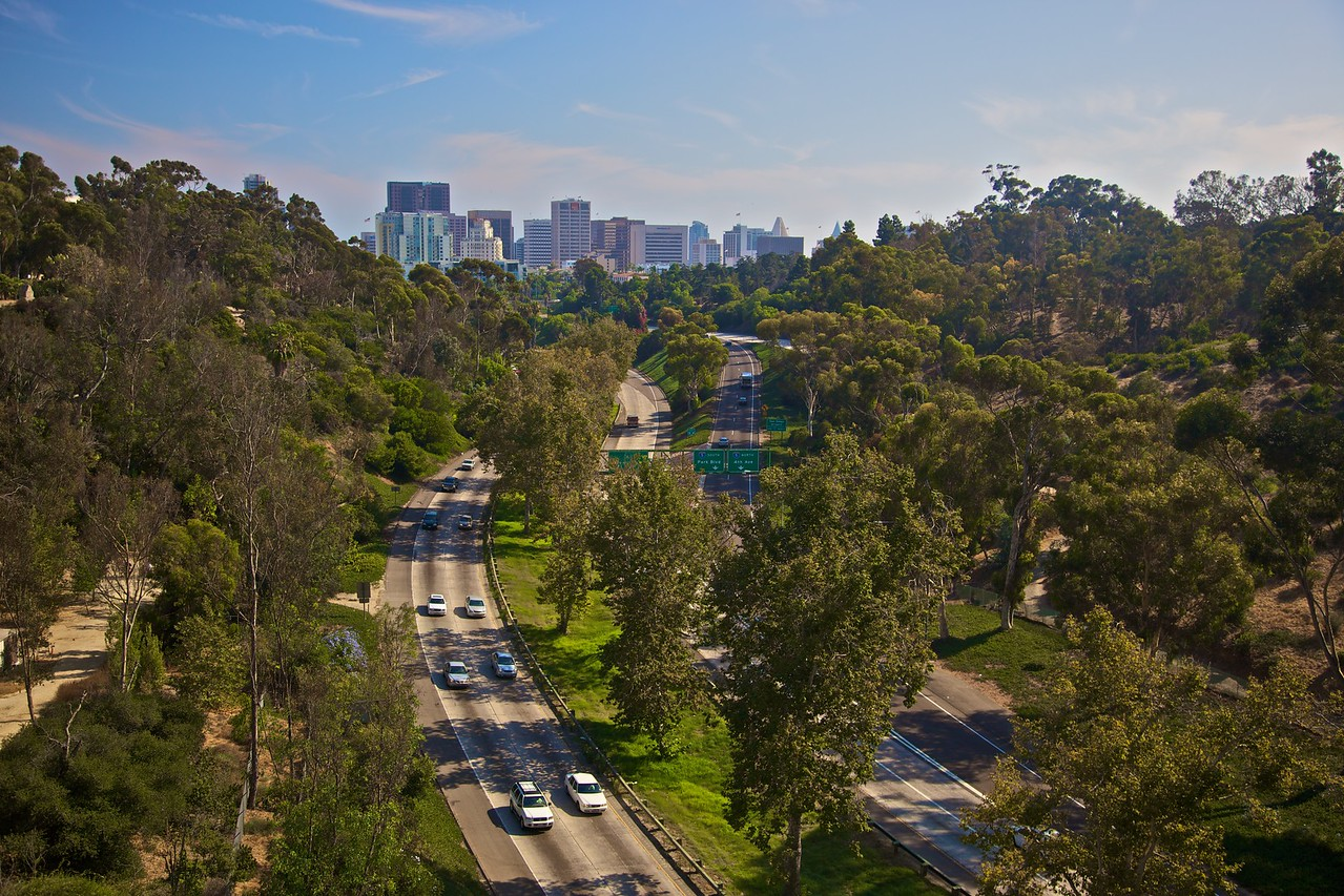 Looking towards downtown San Diego from Balboa Park.