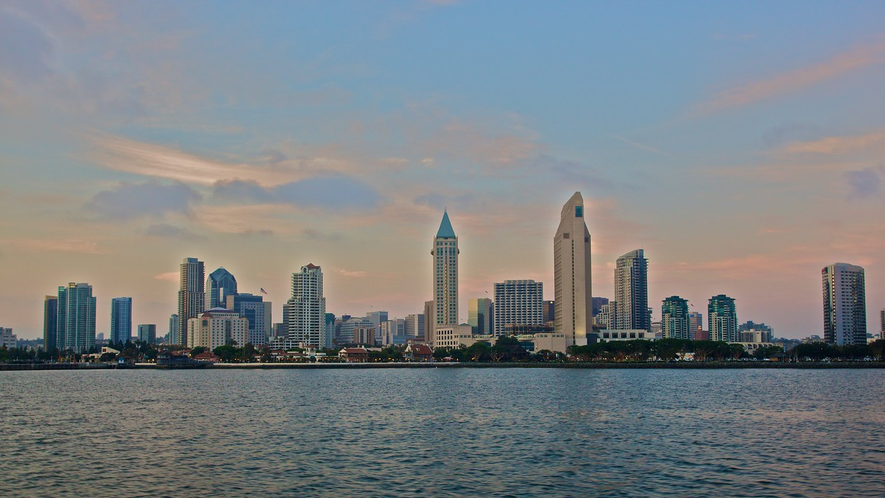 San Diego, another city by another bay, as seen from Coronado.
