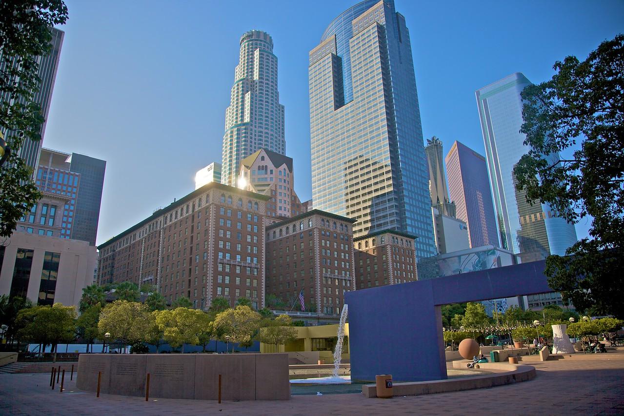 Buildings in downtown Los Angeles.