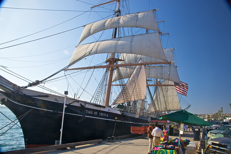 The Star of India ship, which is kept as part of the Maritime Museum in San Diego.