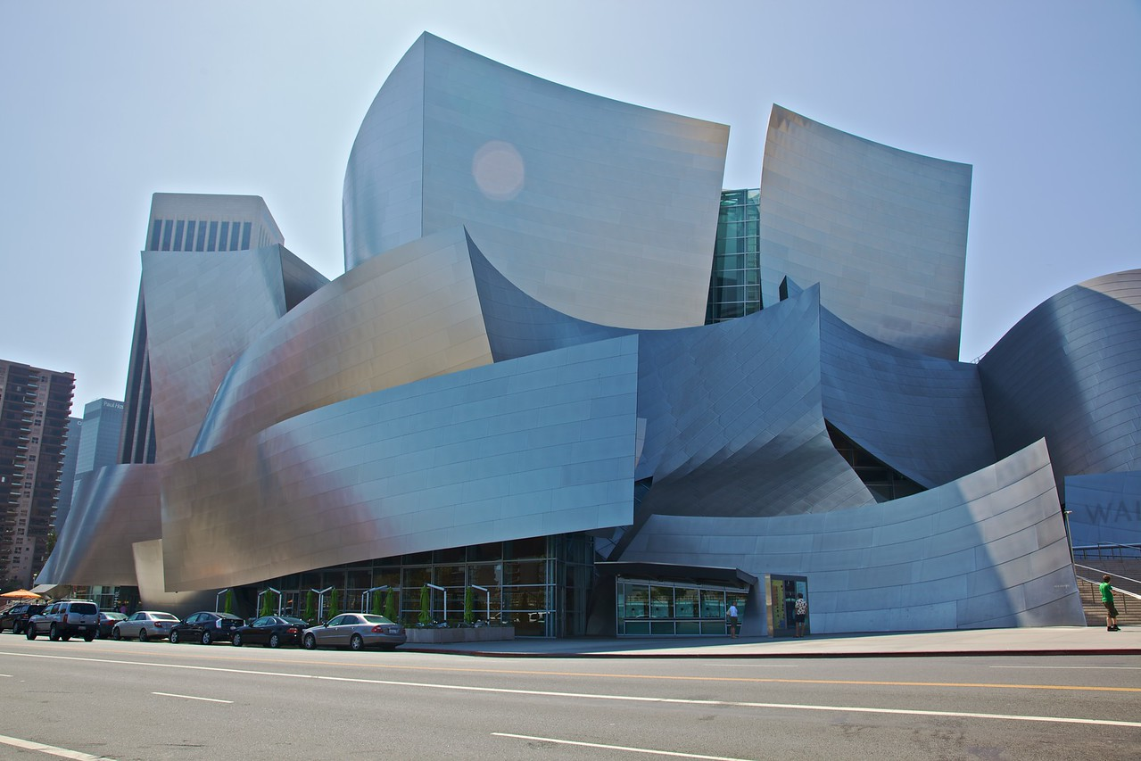 The Walt Disney Concert Hall in Los Angeles.