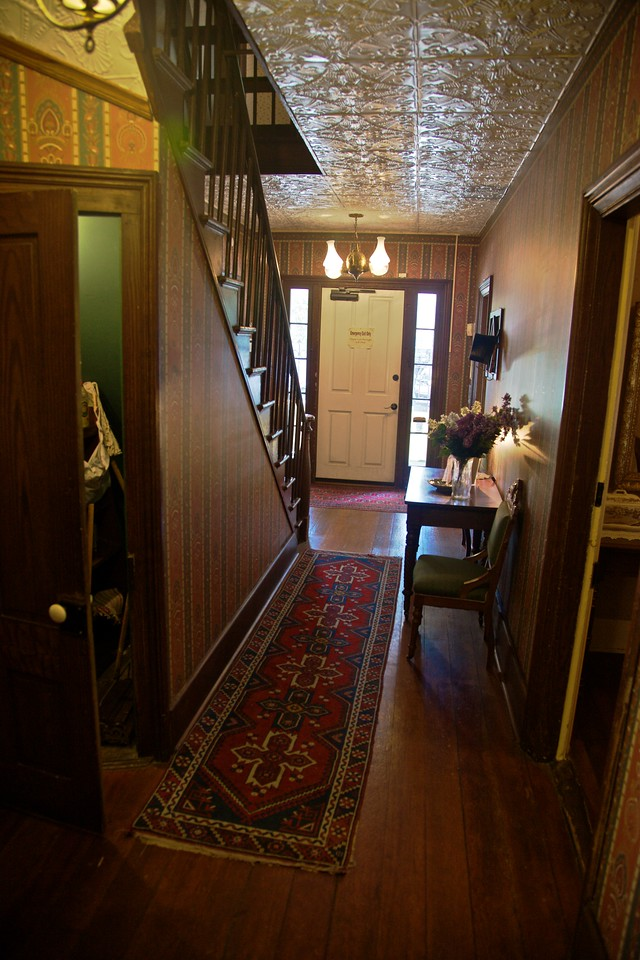 Inside the William Heath Davis House, in the Gaslamp District of San Diego. William Heath Davis was largely responsible for the foundation of modern San Diego.