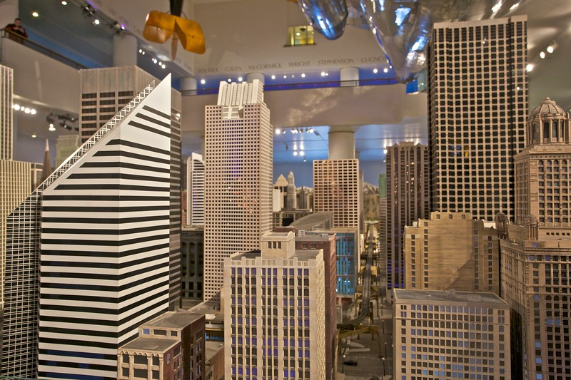 Buildings in the enormous—and totally brilliant—model railway at the Museum of Science and Industry.