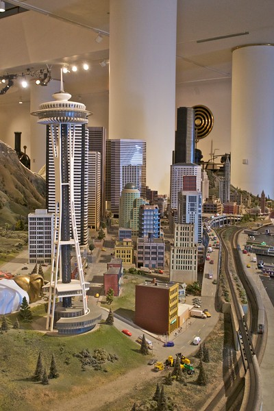 One end of the model railway at the Museum of Science and Industry.