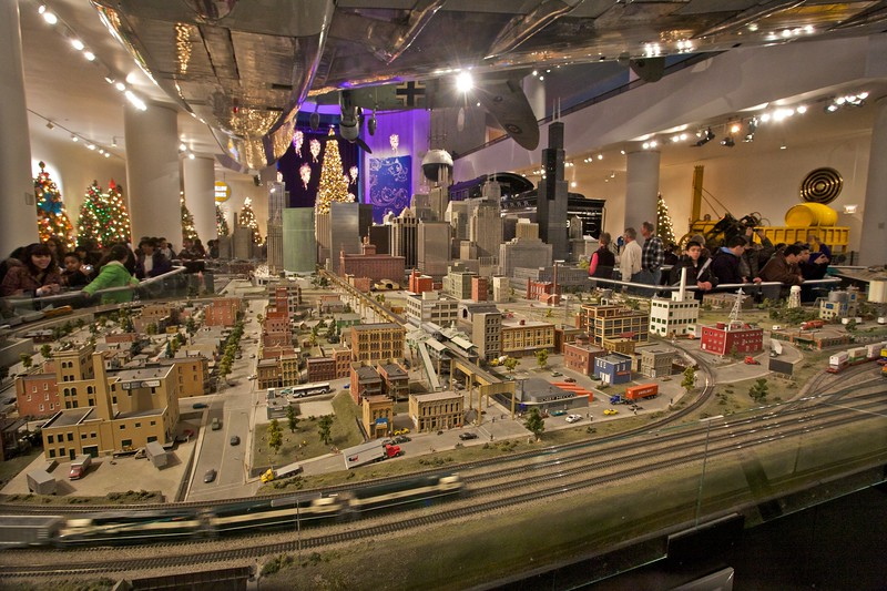Another side of the model railway at the Museum of Science and Industry.