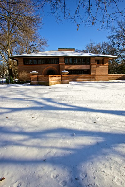 Frank Lloyd Wright's family home in Oak Park. By a bizarre set of circumstances I was given a private tour of the house with just me, a tour guide, and a tour guide supervisor! Even in such informal circumstances, though, I still wasn't allowed to take photographs inside.