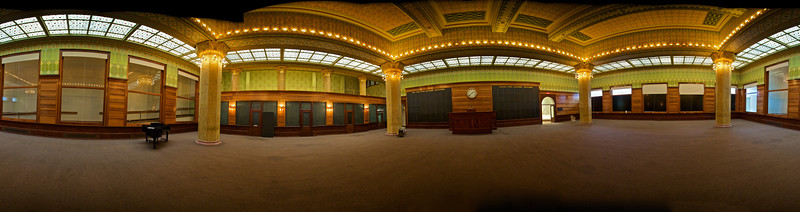 360º panorama of the reconstructed Chicago stock trading hall, housed at the Art Institute of Chicago. (Fifteen-photo stitch.)