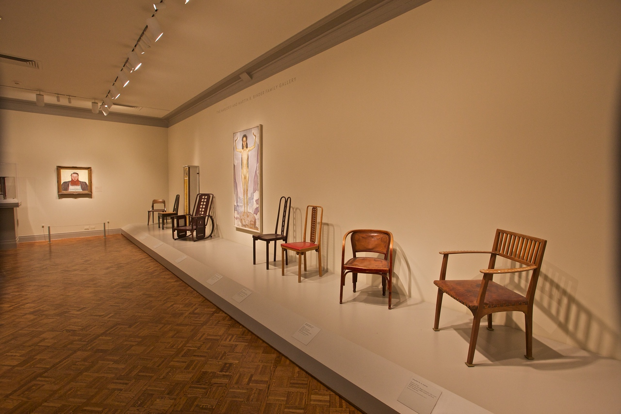 Chairs on display at the Art Institute of Chicago.
