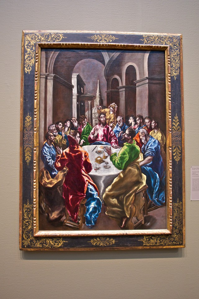 At the Art Insitute of Chicago: El Greco's (Domenikos Theotokopoulos, 1541–1614) 'The Feast in the House of Simon' (1608/14).